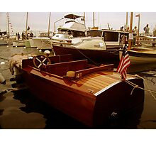 Vintage Speedboat Photographic Print