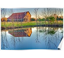 Barn and Reflections Poster