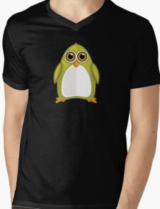 Yellow Green Penguin 2 Mens V-Neck T-Shirt