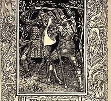 Spenser's Faerie queene A poem in six books with the fragment Mutabilitie Ed by Thomas J Wise, pictured by Walter Crane 1895 V1 193 - The Faithful Knight in Equal Field by wetdryvac