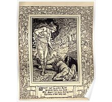 Spenser's Faerie queene A poem in six books with the fragment Mutabilitie Ed by Thomas J Wise, pictured by Walter Crane 1895 V4 151 - Amoret Rapt by greedie Lust Poster