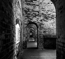 Inside Fort Macon, Emerald Isle, North Carolina by DArthurBrown