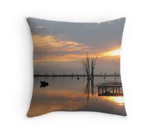 Sunrise Mirrored in Lake Mulwala Throw Pillow
