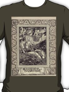Spenser's Faerie queene A poem in six books with the fragment Mutabilitie Ed by Thomas J Wise, pictured by Walter Crane 1895 V3 121 - A Team of Dolphins Ranged in Aray T-Shirt