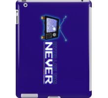 Retro TV - Better Late Than Never Videogames iPad Case/Skin