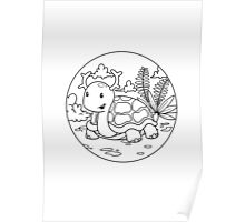 Antler Animals - Turtle Poster
