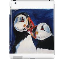 Puffin Wild Birds Fine Art Contemporary Acrylic Painting On Paper iPad Case/Skin