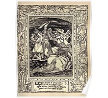 Spenser's Faerie queene A poem in six books with the fragment Mutabilitie Ed by Thomas J Wise, pictured by Walter Crane 1895 V5 39 - Artegall Heares of Florimell Poster