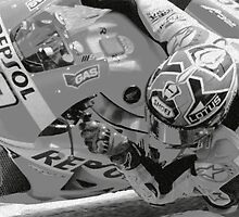 Marc Marquez charcoal by dbgear