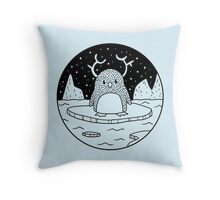 Antler Animals - Penguin Throw Pillow