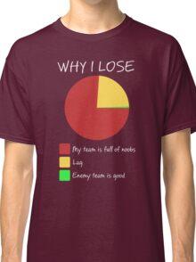 Why I Lose - Gaming Humor T Shirt Classic T-Shirt
