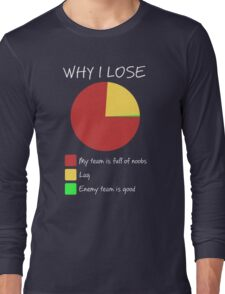 Why I Lose - Gaming Humor T Shirt Long Sleeve T-Shirt