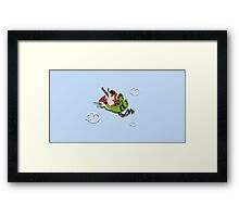 We're flying Dude! Framed Print