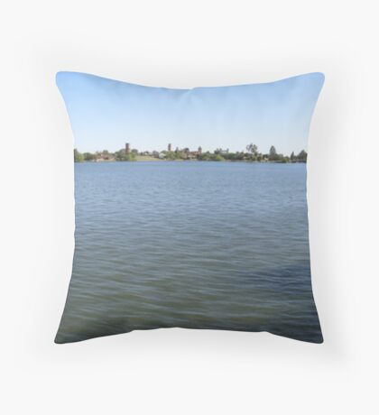 Yarrawonga and Bridge Panorama Throw Pillow