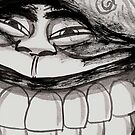 DETAIL CROP 100% from---JUS GRIN BACKATUM by DALE CRUM