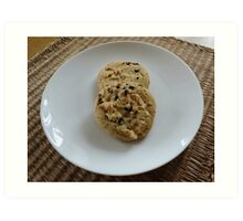 White Chocolate and Blueberry Luxury Cookies Art Print