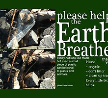 Please Help the Earth Breathe Art by M Sylvia Chaume
