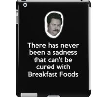 Sadness Cured with Breakfast Food iPad Case/Skin
