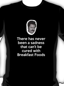 Sadness Cured with Breakfast Food T-Shirt