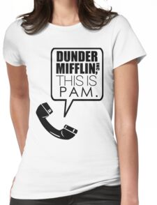 Dunder Mifflin, This Is Pam. Womens Fitted T-Shirt