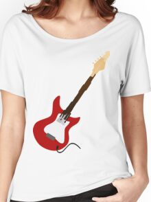 Play Electric Guitar Illustration Women's Relaxed Fit T-Shirt