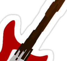 Play Electric Guitar Illustration Sticker