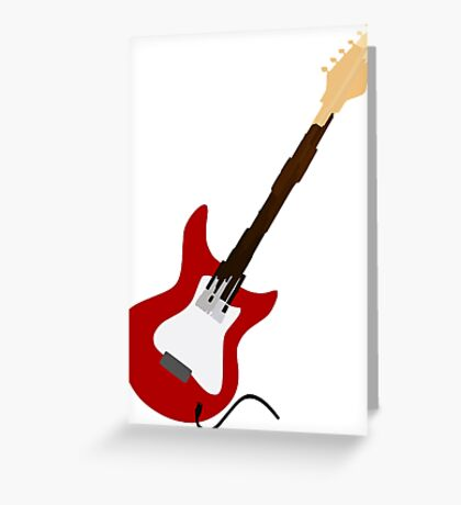 Play Electric Guitar Illustration Greeting Card