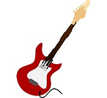 Play Electric Guitar Illustration Photographic Print