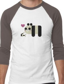 Panda Love Men's Baseball ¾ T-Shirt