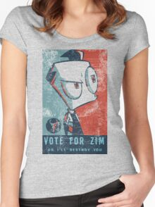 Vote For Zim Women's Fitted Scoop T-Shirt