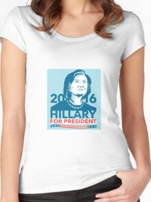 Hillary Clinton 2016 President America Stencil Women's Fitted Scoop T-Shirt
