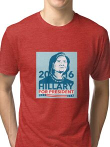 Hillary Clinton 2016 President America Stencil Tri-blend T-Shirt