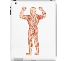 Human Muscular System Anatomy Etching iPad Case/Skin