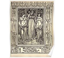 Spenser's Faerie queene A poem in six books with the fragment Mutabilitie Ed by Thomas J Wise, pictured by Walter Crane 1895 V1 307 - Her Faithful knight Faire Una Brings Poster
