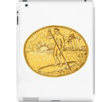 Stand Up Paddle Boarding Surfing Etching iPad Case/Skin