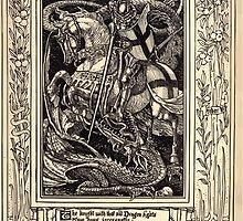 Spenser's Faerie queene A poem in six books with the fragment Mutabilitie Ed by Thomas J Wise, pictured by Walter Crane 1895 V1 339 - The Knight with that Old Dragon Fights by wetdryvac