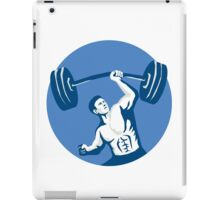 Strongman Lifting Barbell One Hand Stencil iPad Case/Skin