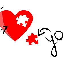 Missing Puzzle Piece, Heart Puzzle - Me / You Love Design by tshirtdesign