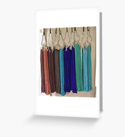 Beads - Blue and Brown Greeting Card