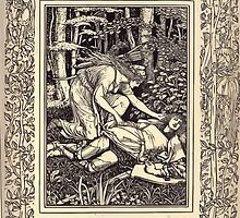 Spenser's Faerie queene A poem in six books with the fragment Mutabilitie Ed by Thomas J Wise, pictured by Walter Crane 1895 V3 137 - Prince Arthur Heares of Florimell by wetdryvac