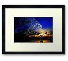 Another Day Ends Framed Print