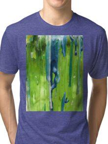 Bluegreen abstract Tri-blend T-Shirt