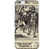 Spenser's Faerie queene A poem in six books with the fragment Mutabilitie Ed by Thomas J Wise, pictured by Walter Crane 1895 V5 105 - Artegall Fights With Radigund iPhone Case/Skin