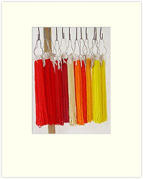 Beads - Red and Yellow by May Lattanzio