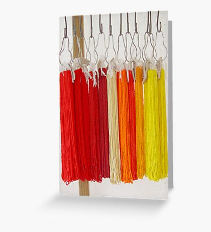 Beads - Red and Yellow Greeting Card