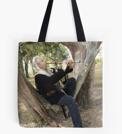 Billy White Fox Tote Bag