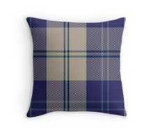00427 Alisa Royal Blue Tartan  Throw Pillow