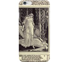 Spenser's Faerie queene A poem in six books with the fragment Mutabilitie Ed by Thomas J Wise, pictured by Walter Crane 1895 V3 47 - Where when confusedly they came they down iPhone Case/Skin