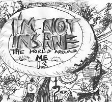 IM NOT INSANE THE WORLD AROUND ME IS(C2007) by Paul Romanowski