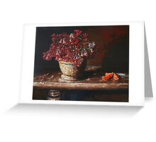 Still Life With Shamrock and Oranges Greeting Card